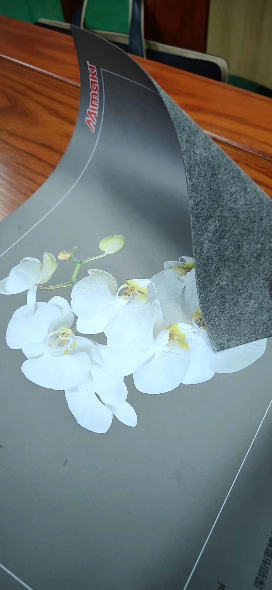 UV彩印-灰色皮革彩白打印数码印花制作