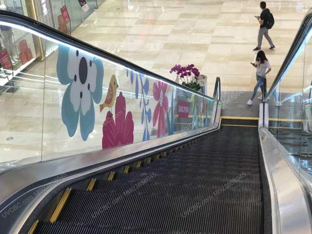 商场扶梯UV彩白彩